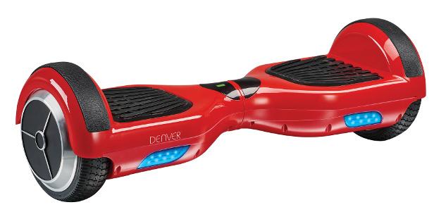 Denver DBO 6550 Hoverboard in Rot mit LED Leuchten