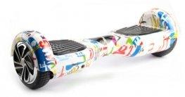 Flitzer Hoverboard Classic mit 6,5 Zoll und Graffiti-Look