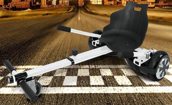 hoverkart macht dein hoverboard mit sitz zum hover go kart. Black Bedroom Furniture Sets. Home Design Ideas